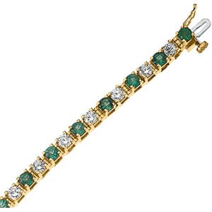 Jewelry 2018 >> Lakeland Florida Jewelers » Genuine Emerald & Diamond Bracelet